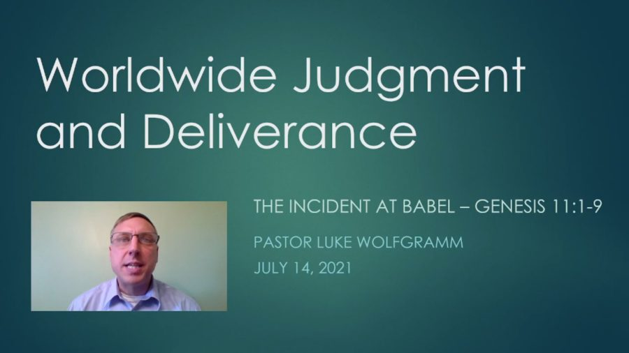 The incident at Babel - Genesis 11:1-9